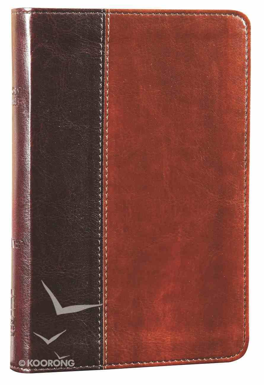 NIV Thinline Bible Compact Black Letter Mahogany/Dark Caramel Imitation Leather