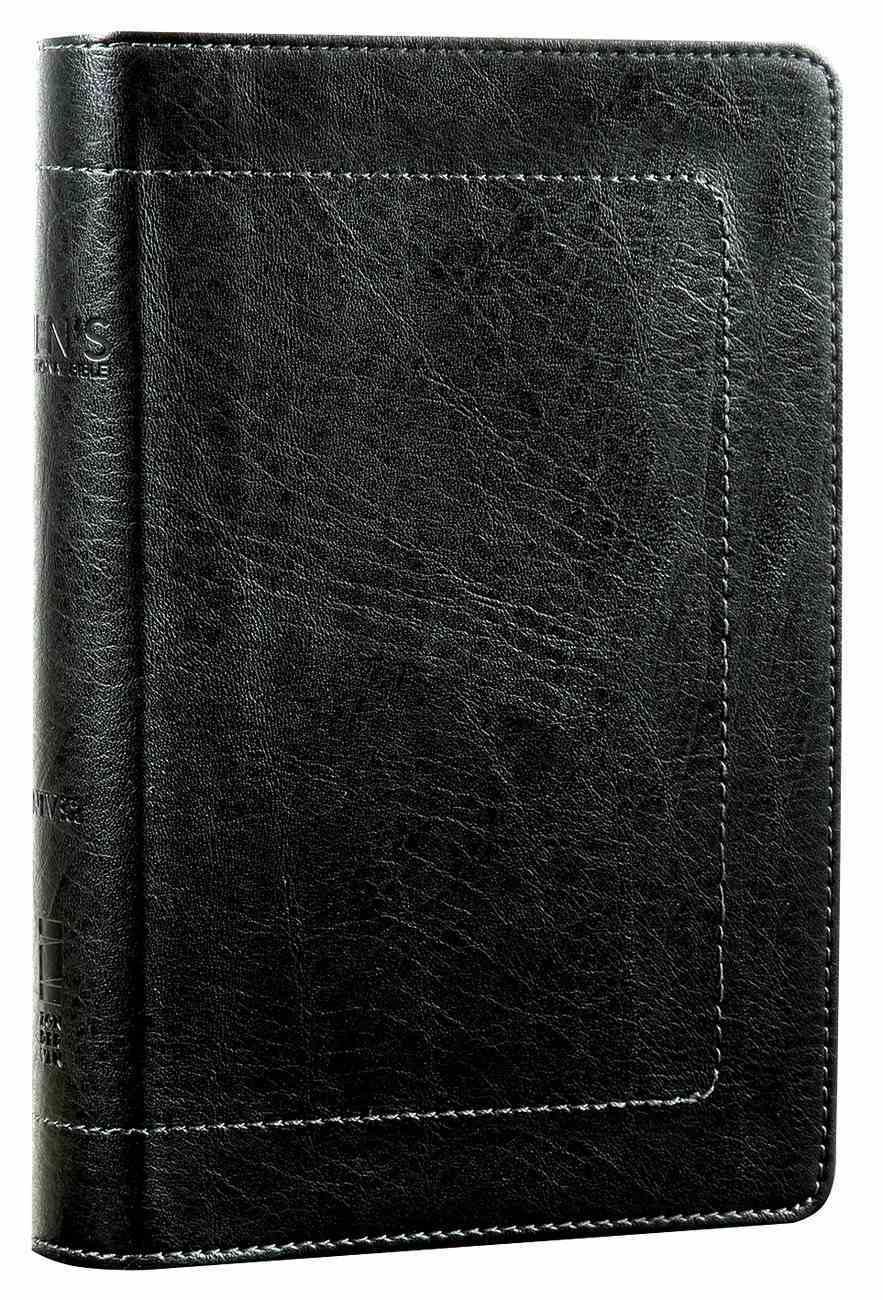 NIV Men's Devotional Bible Compact Black (Black Letter Edition) Premium Imitation Leather