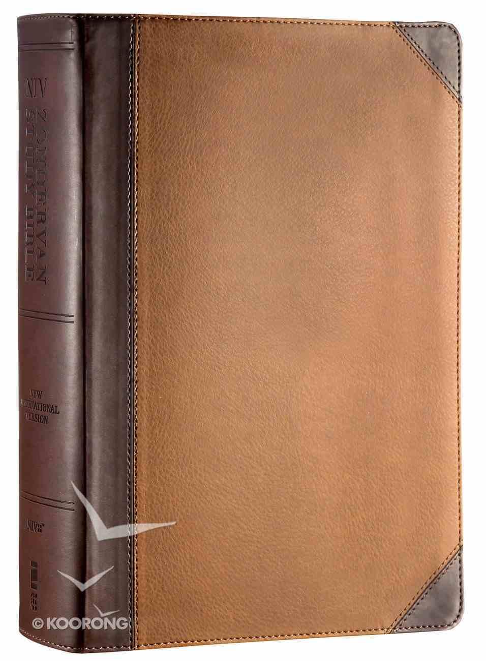 NIV Zondervan Study Bible Full Colour Large Print Chocolate Caramel Premium Imitation Leather