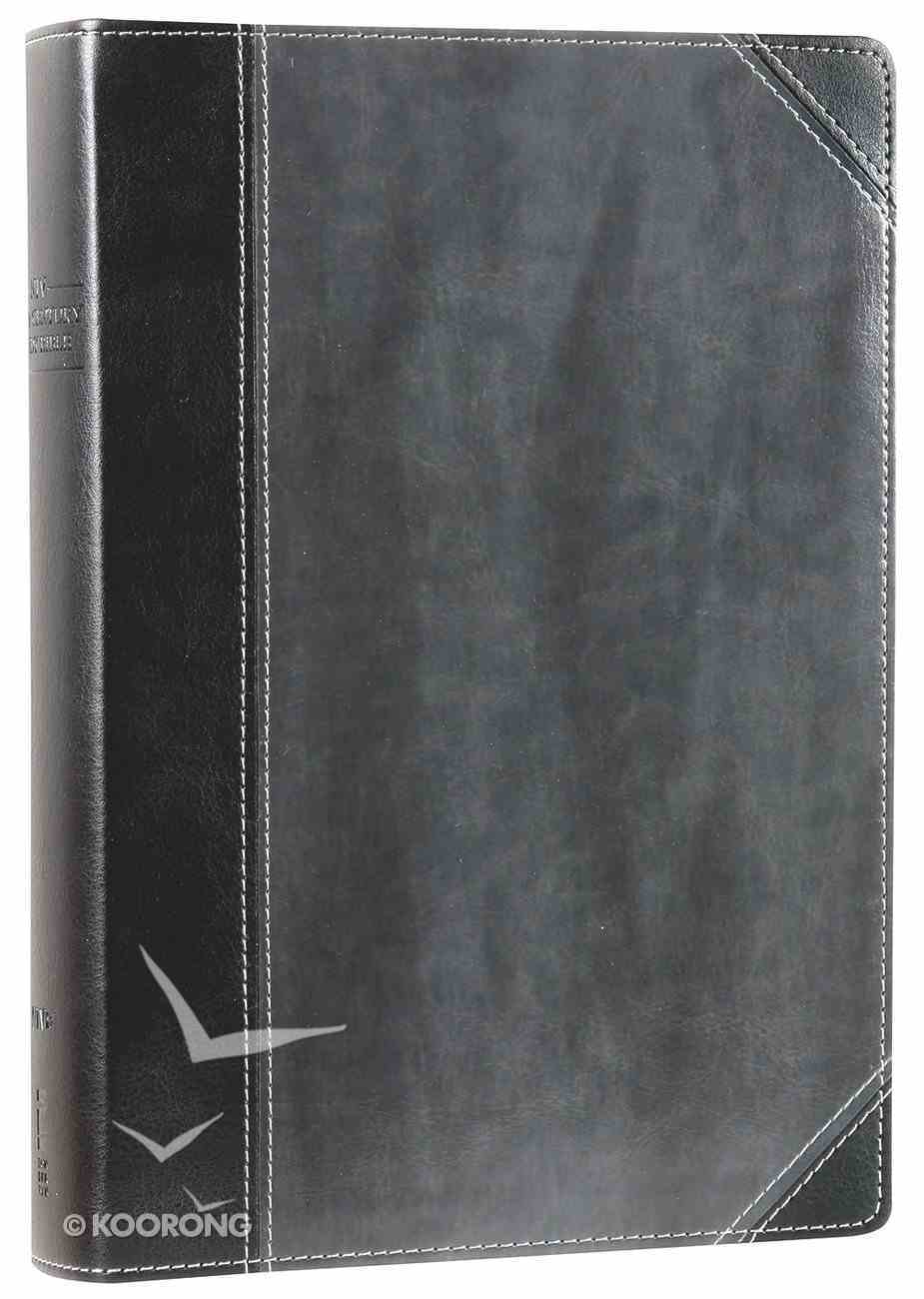 NIV First-Century Study Bible Black/Dark Charcoal (Black Letter Edition) Premium Imitation Leather