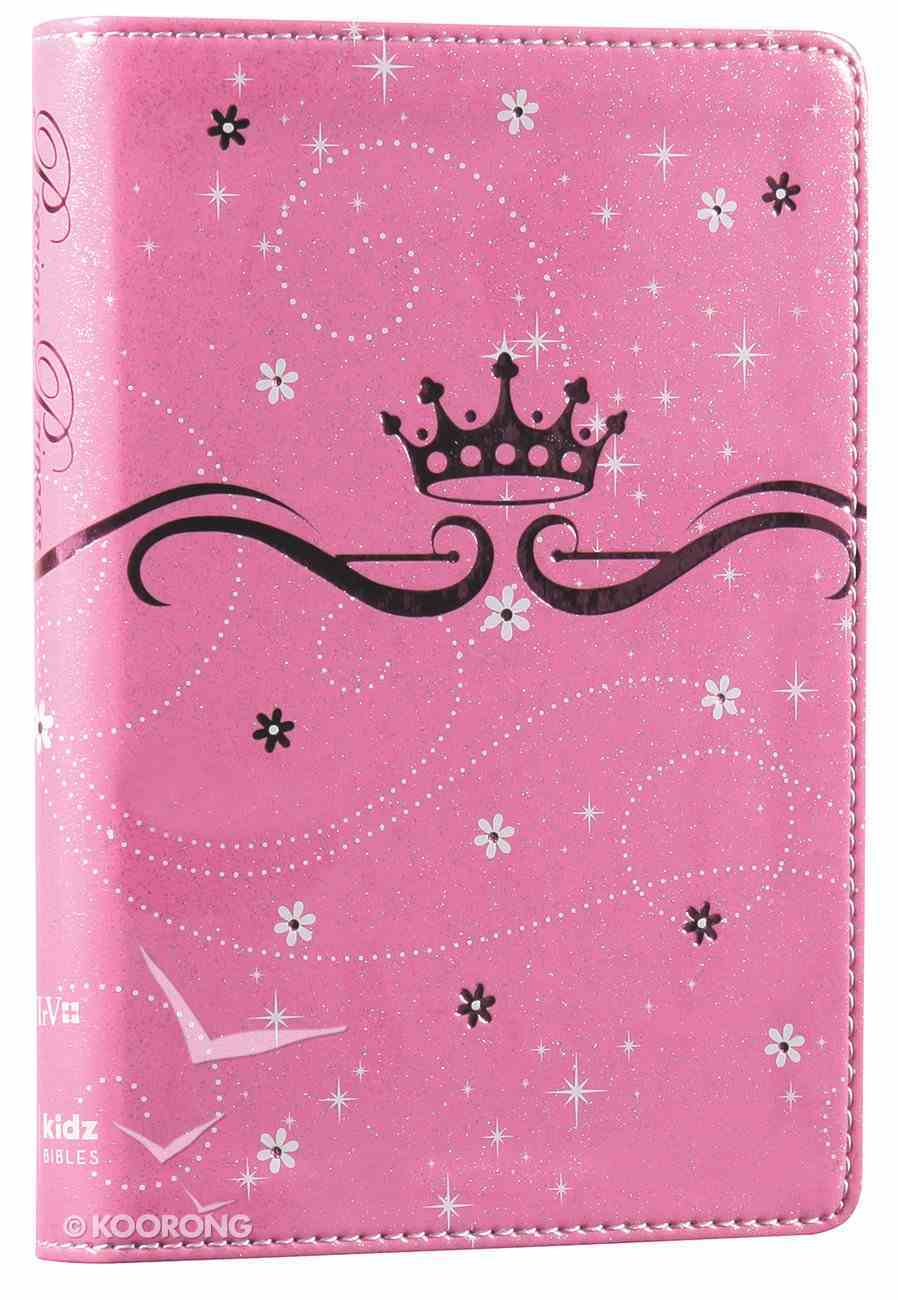 NIRV Precious Princess Compact Bible Pink Sparkle (Black Letter Edition) Premium Imitation Leather