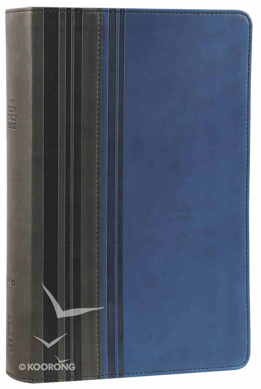 NIV Teen Study Bible Graphite Mediterranean Blue (Black Letter Edition) Premium Imitation Leather
