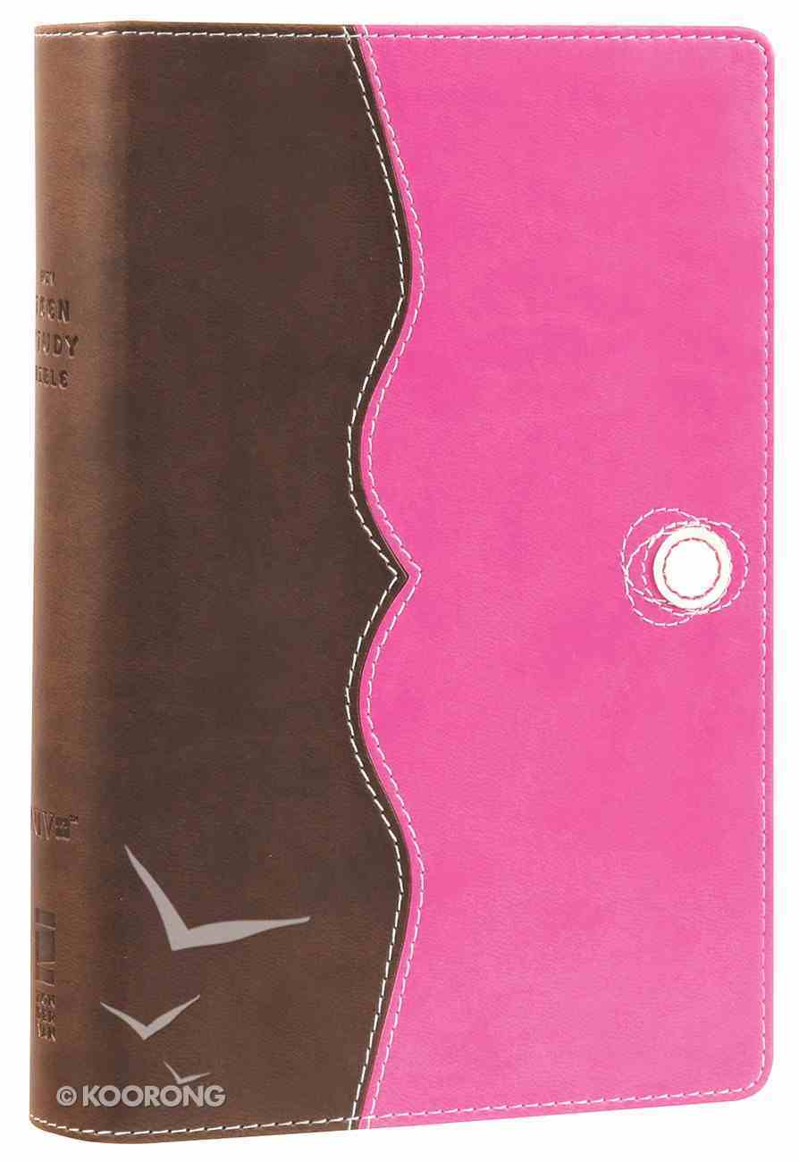 NIV Teen Study Bible Compact Chocolate Raspberry (Black Letter Edition) Premium Imitation Leather