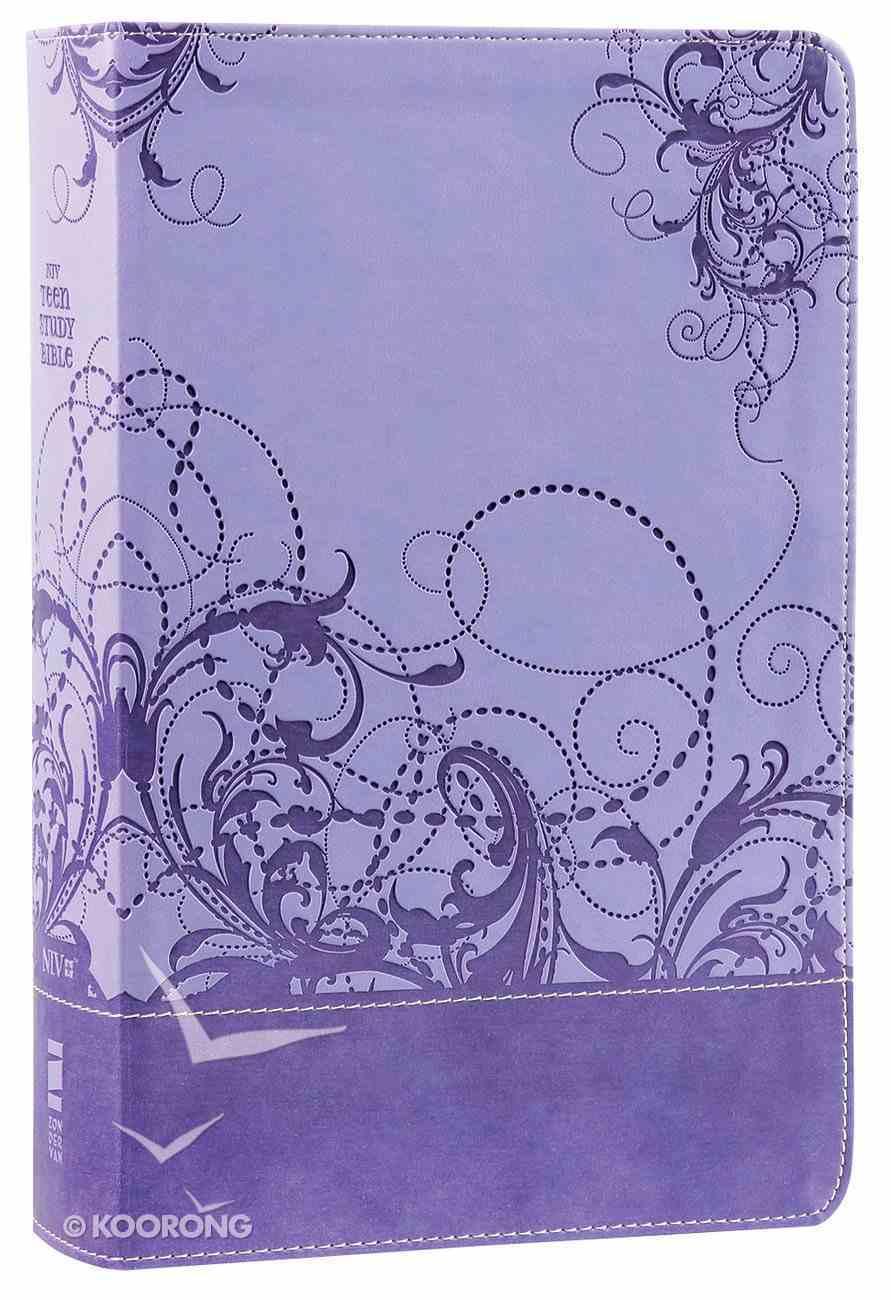 NIV Teen Study Bible Spring Violet (Black Letter Edition) Premium Imitation Leather
