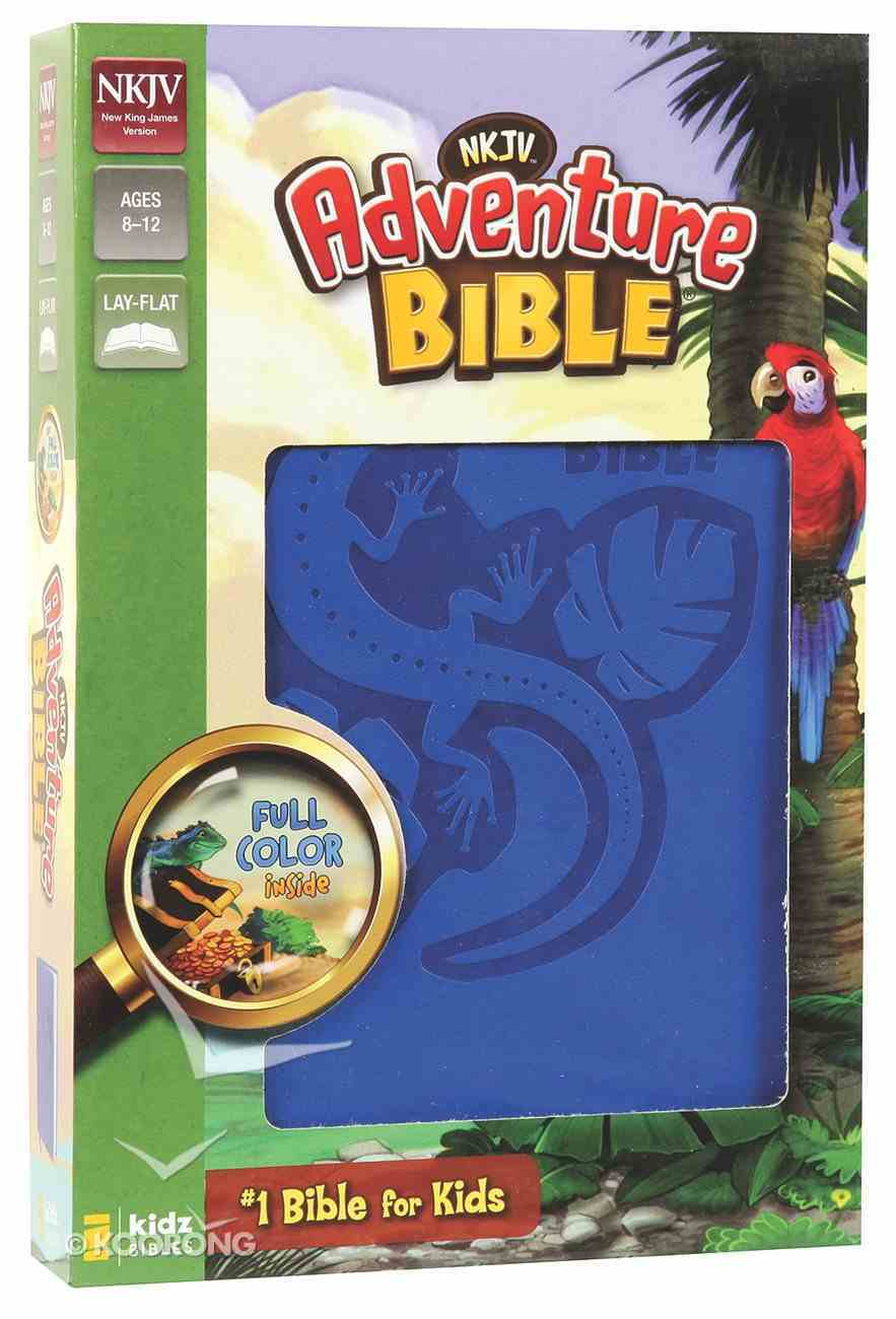 NKJV Adventure Bible Blue (Black Letter Edition) Premium Imitation Leather