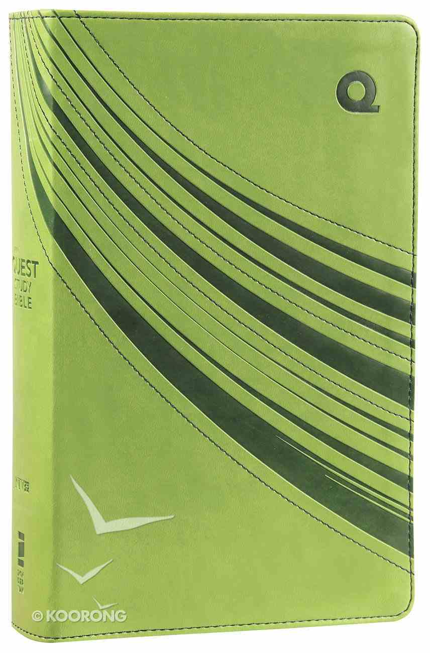 NIV Quest Study Teen Bible Green Duo-Tone (Black Letter Edition) Premium Imitation Leather