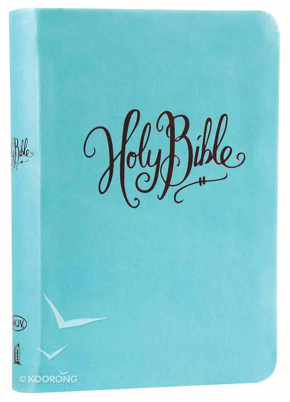 NKJV Compact Large Print Reference Bible Turquoise (Red Letter Edition) (Essentials) Imitation Leather