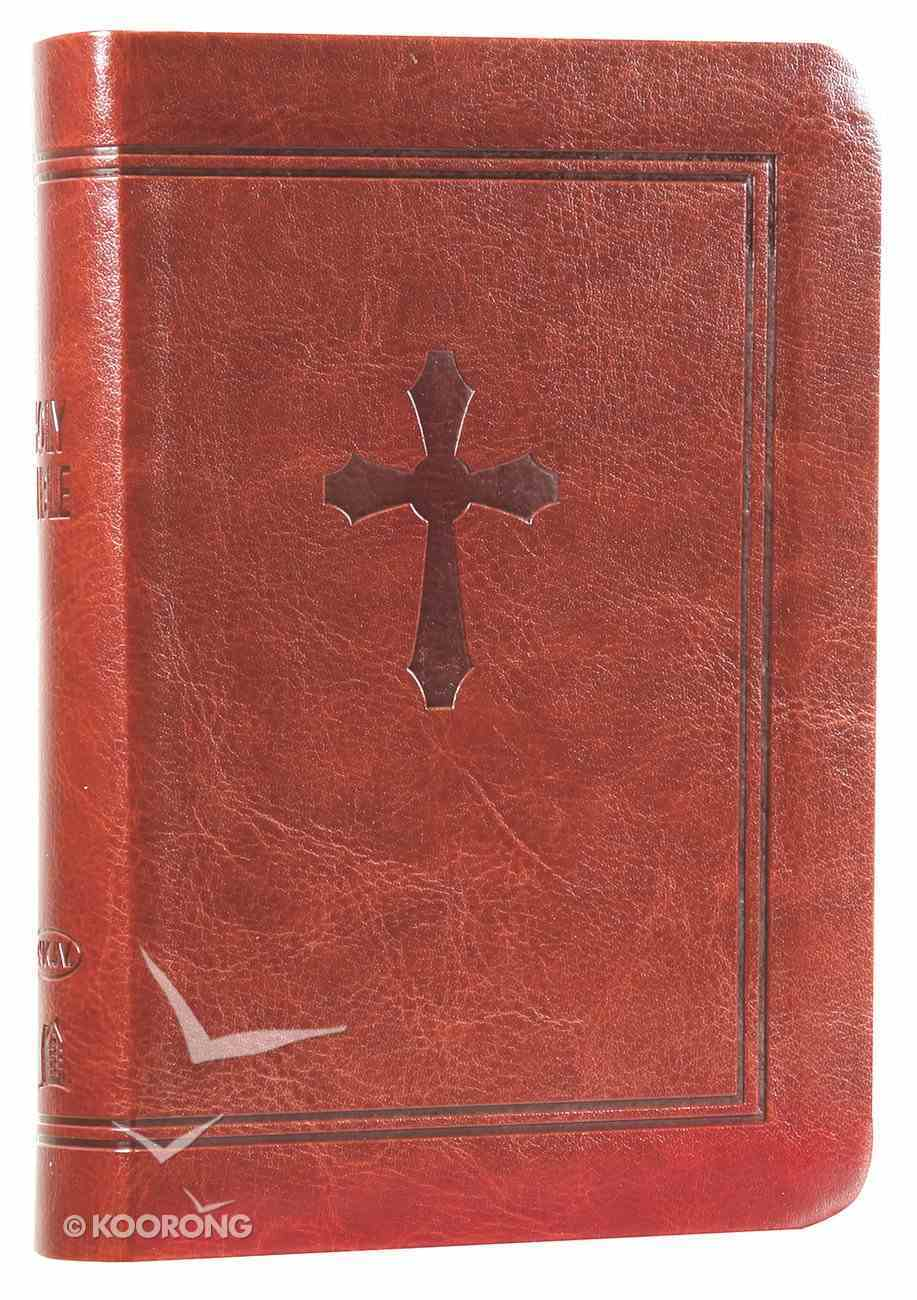 NKJV Compact Large Print Reference Bible Chestnut (Red Letter Edition) (Essentials) Imitation Leather