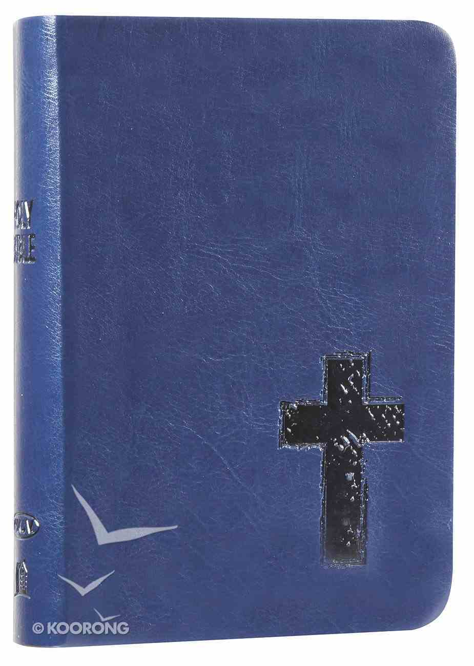 NKJV Compact Large Print Reference Bible Royal Blue (Red Letter Edition) (Essentials) Imitation Leather