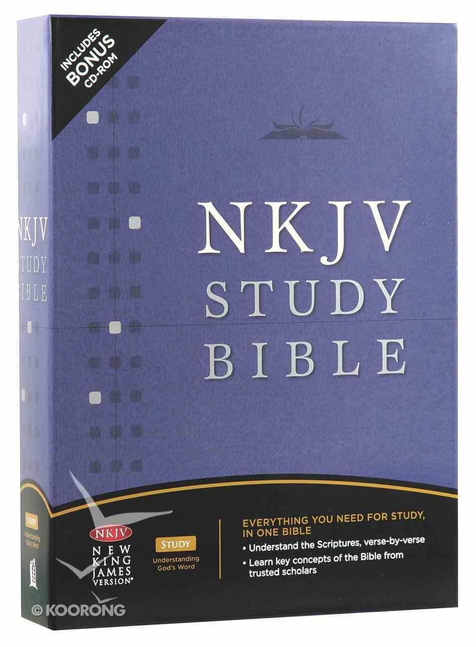 NKJV Study Bible Black 2nd Edition (Black Letter Edition) Bonded Leather