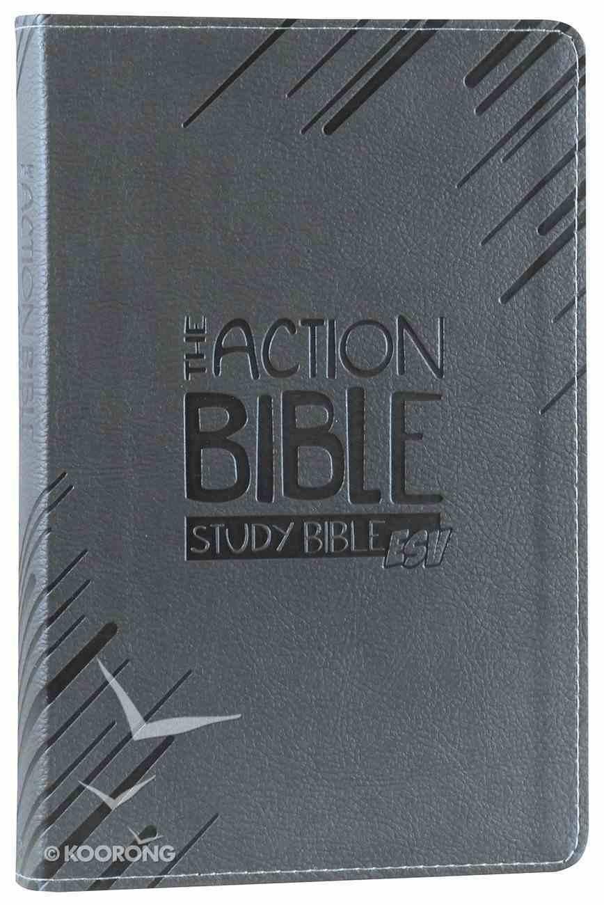 ESV Action Study Bible Gray Premium Imitation Leather