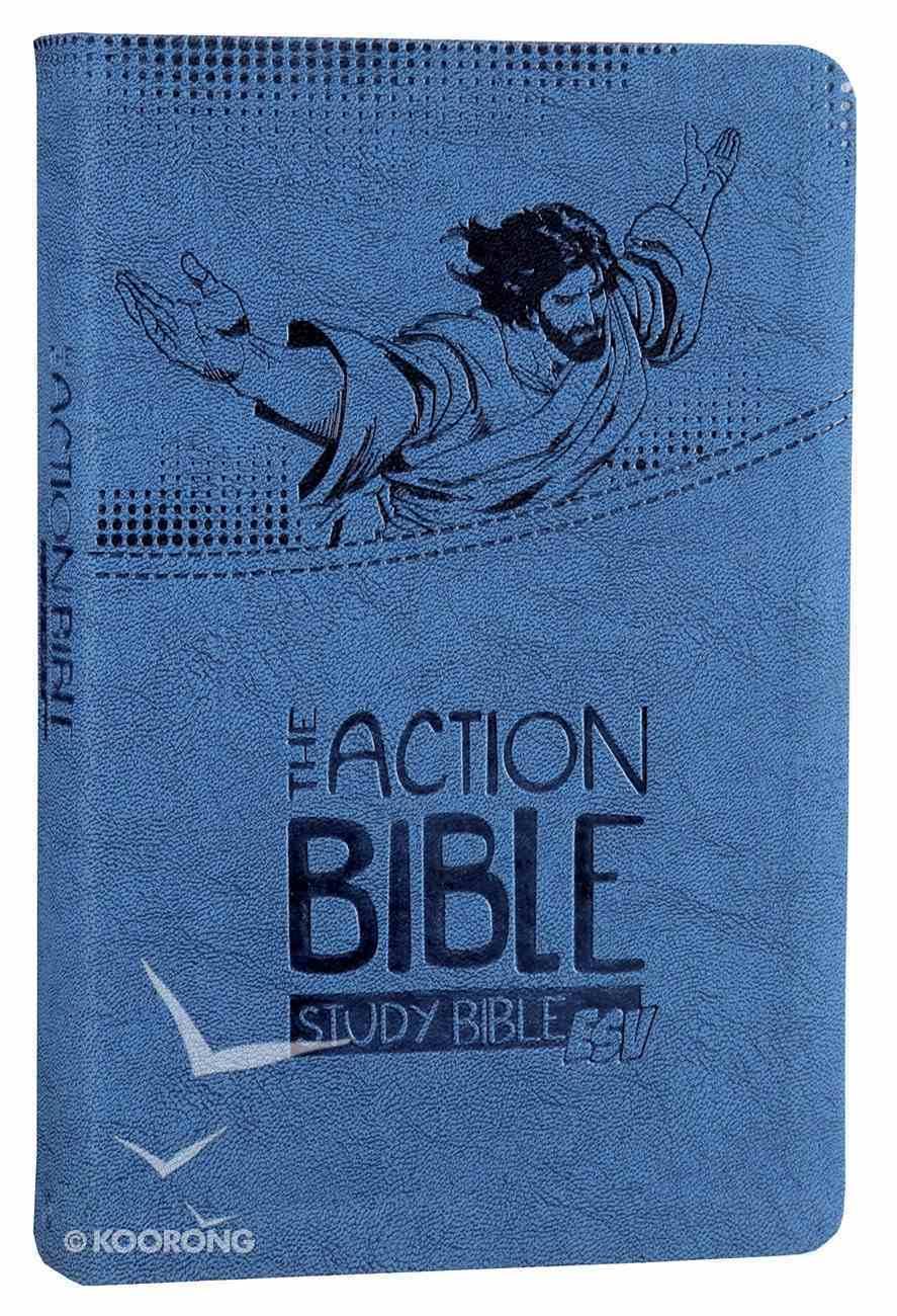 ESV Action Study Bible Blue Premium Imitation Leather