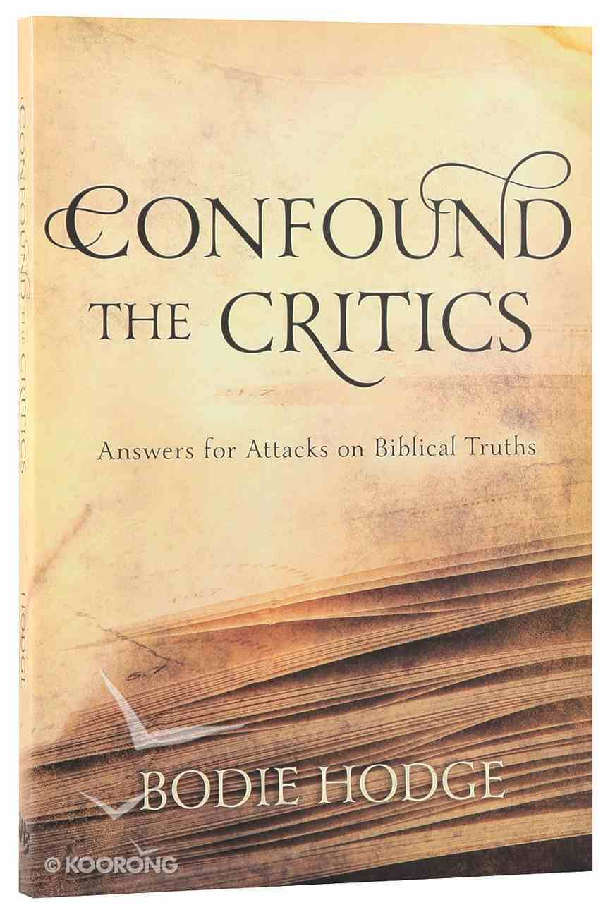 Confound the Critics Paperback