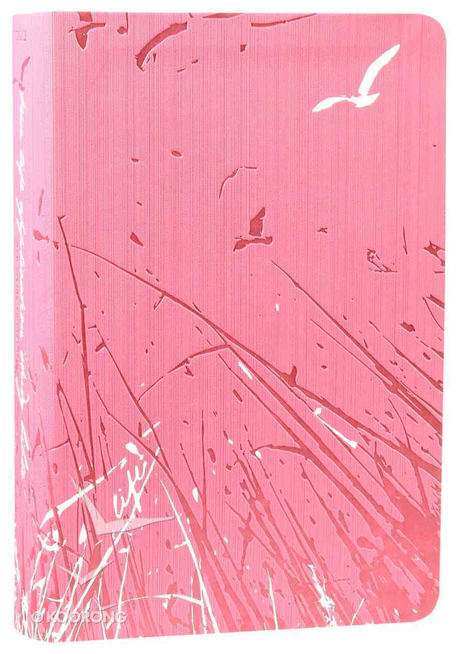 NLT Teen Life Application Study Pink Fields (Black Letter Edition) Imitation Leather