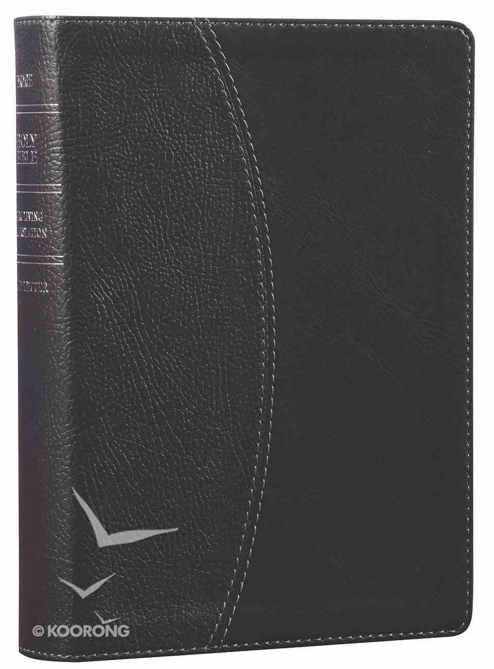 NLT Compact Large Print Bible Black Onyx (Red Letter Edition) Imitation Leather