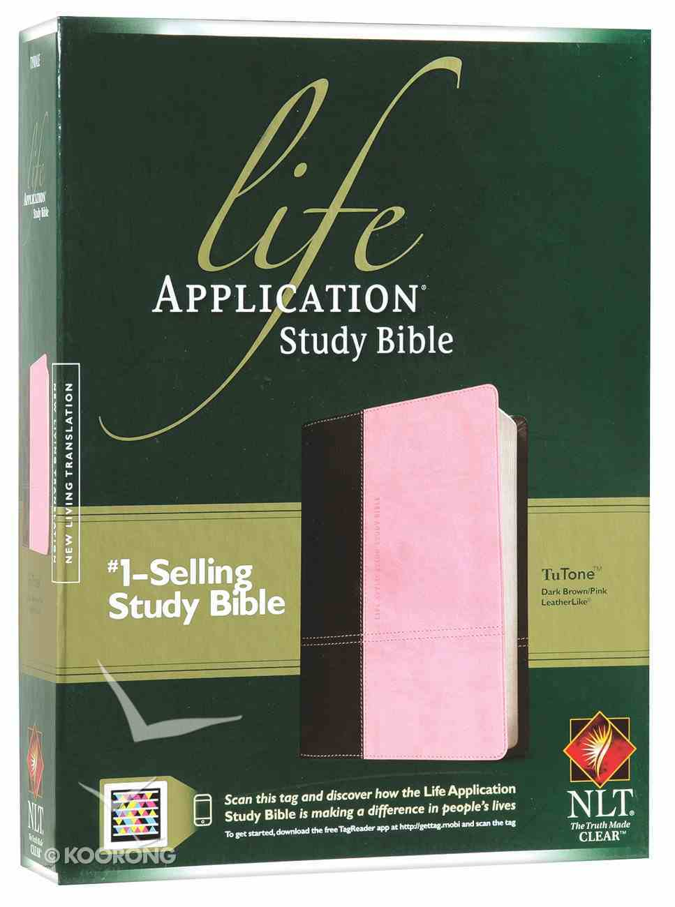 NLT Life Application Study Bible Dark Brown/Pink (Red Letter Edition) Imitation Leather