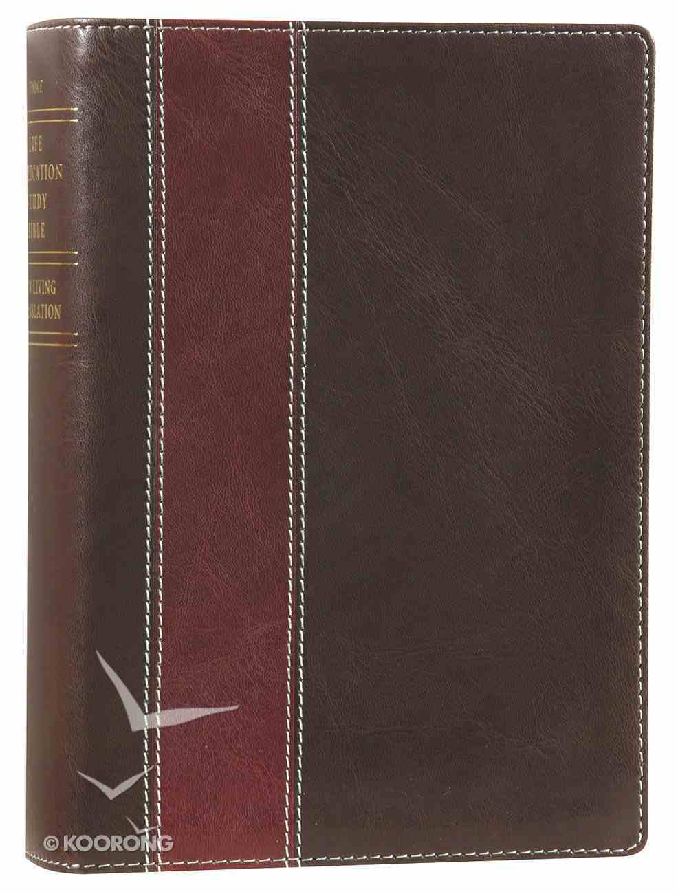 NLT Life Application Study Personal Size Bible Brown (Black Letter Edition) Imitation Leather