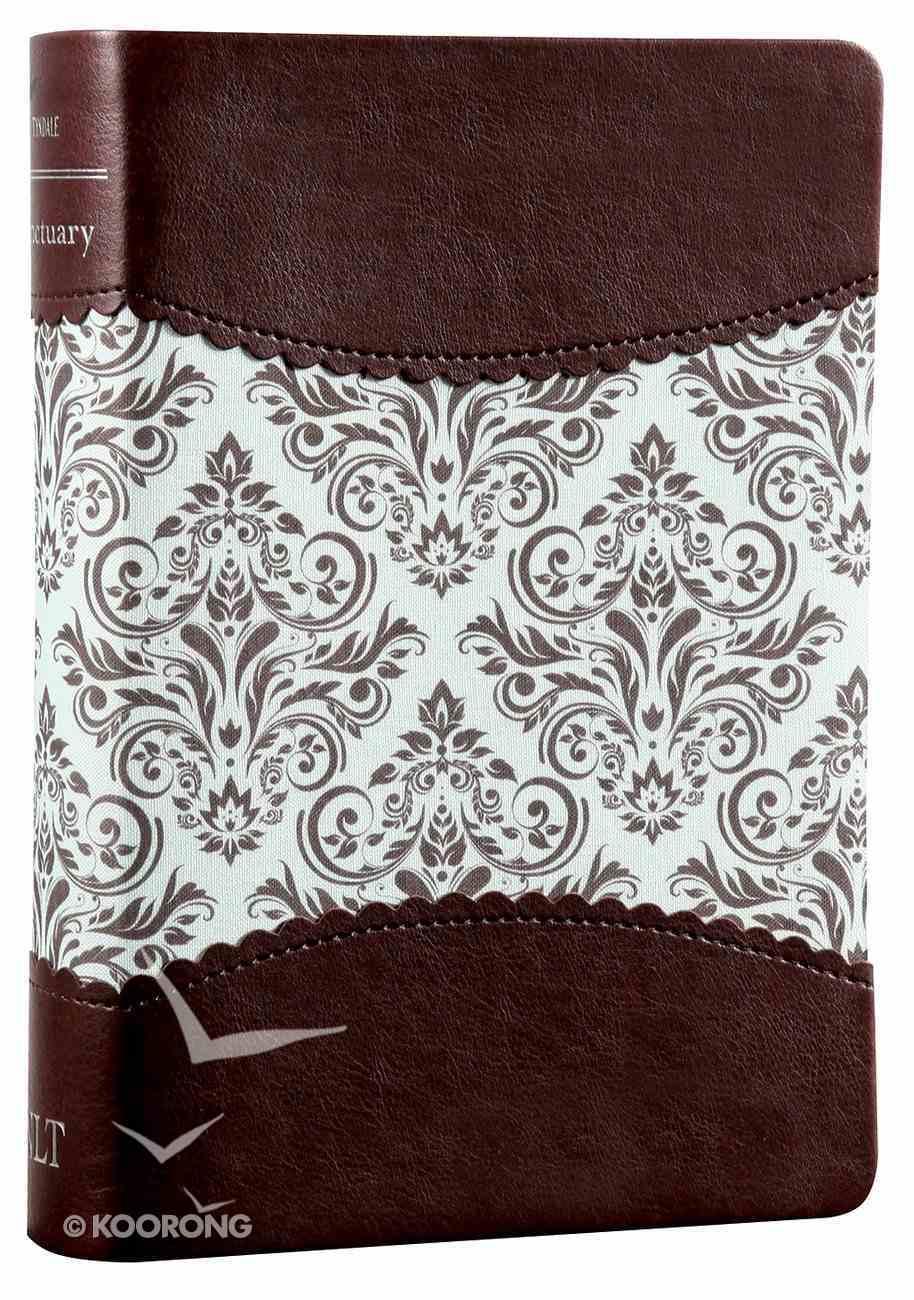 Nlt's Women's Sanctuary Devotional Bible Espresso/Vintage Floral Fabric (Black Letter Edition) Imitation Leather