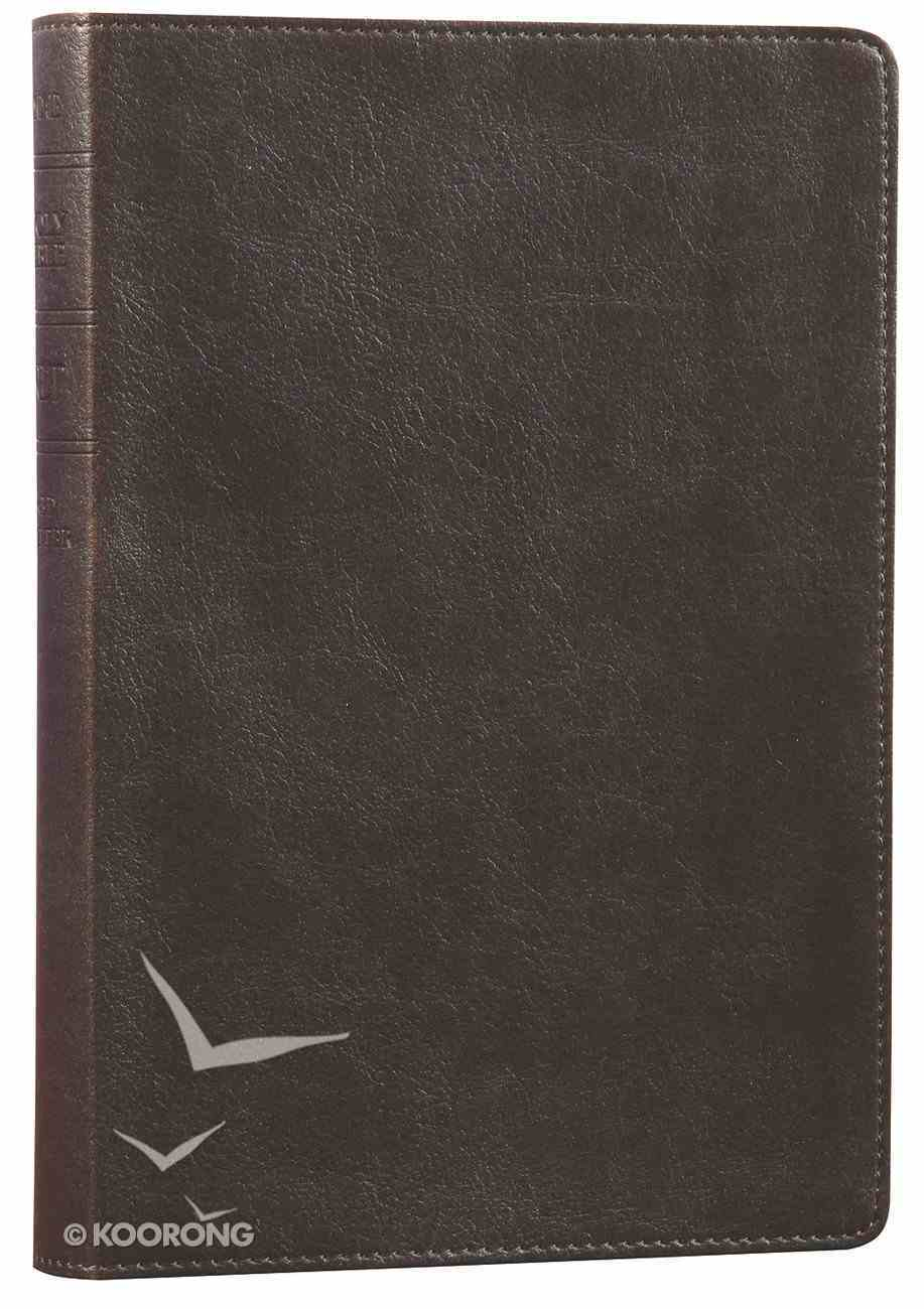 NLT Slimline Reference Bible Rustic Brown (Red Letter Edition) Imitation Leather