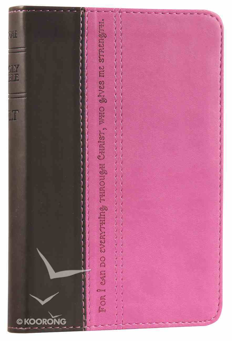 NLT Compact Bible Pink/Brown (Black Letter Edition) Imitation Leather