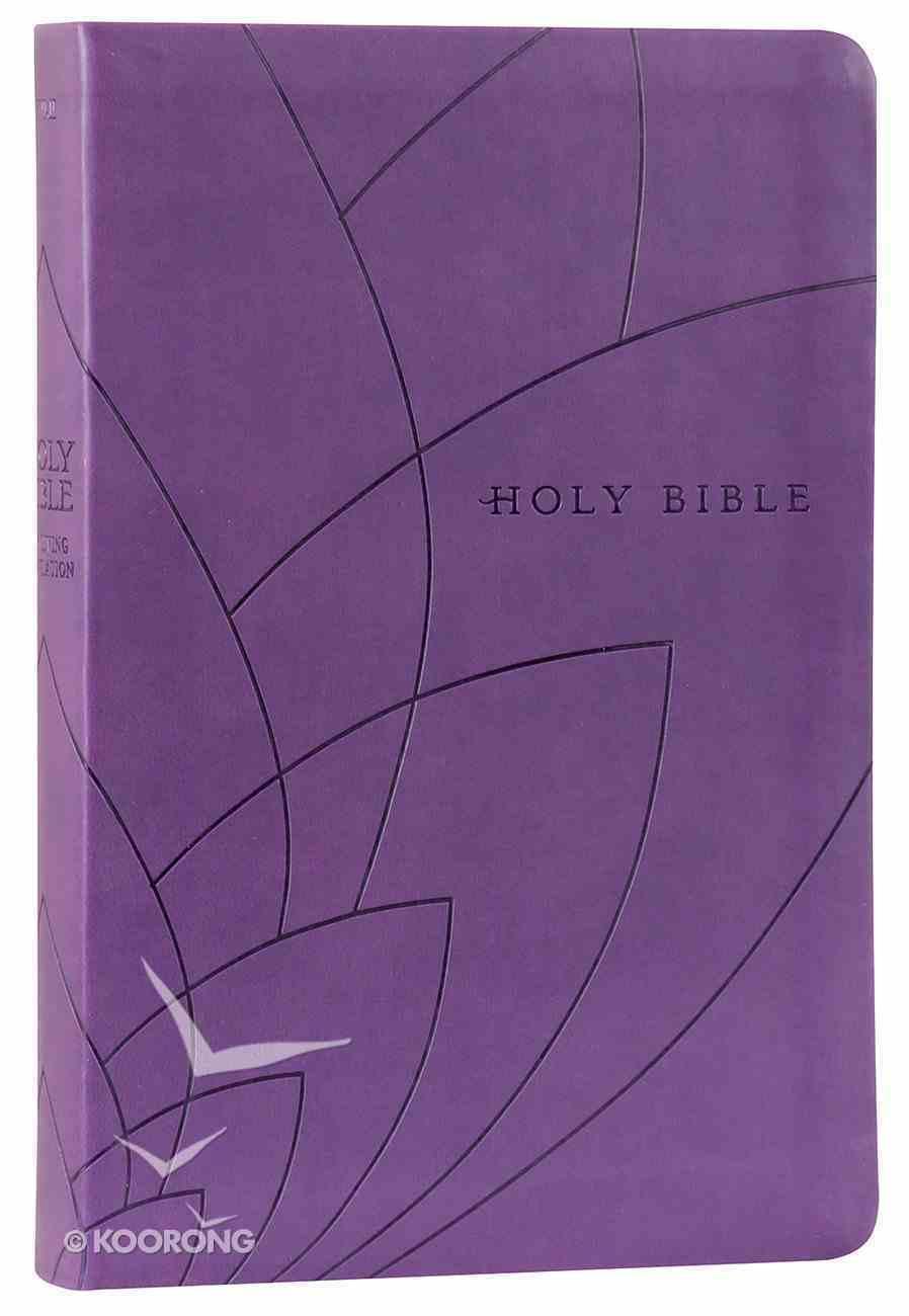 NLT Premium Gift Bible Purple Petals (Red Letter Edition) Imitation Leather