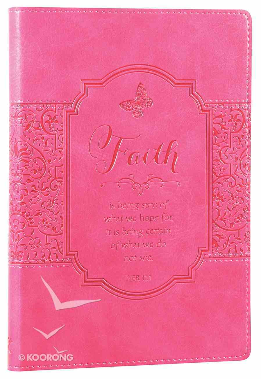 Journal: Faith, Bright Pink Flexcover Luxleather Imitation Leather