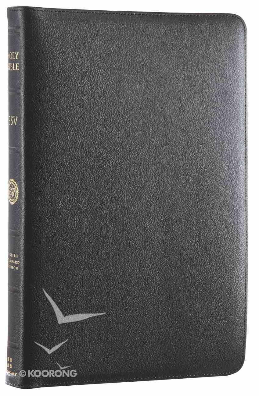 ESV Heirloom Thinline Bible Calfskin, Black Genuine Leather