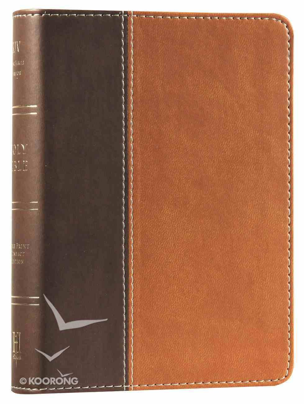 KJV Large Print Compact Bible Dark Brown/Light Brown Duotone Imitation Leather