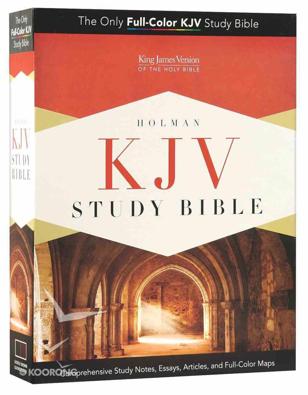 KJV Holman Study Bible Mantova Black Premium Imitation Leather