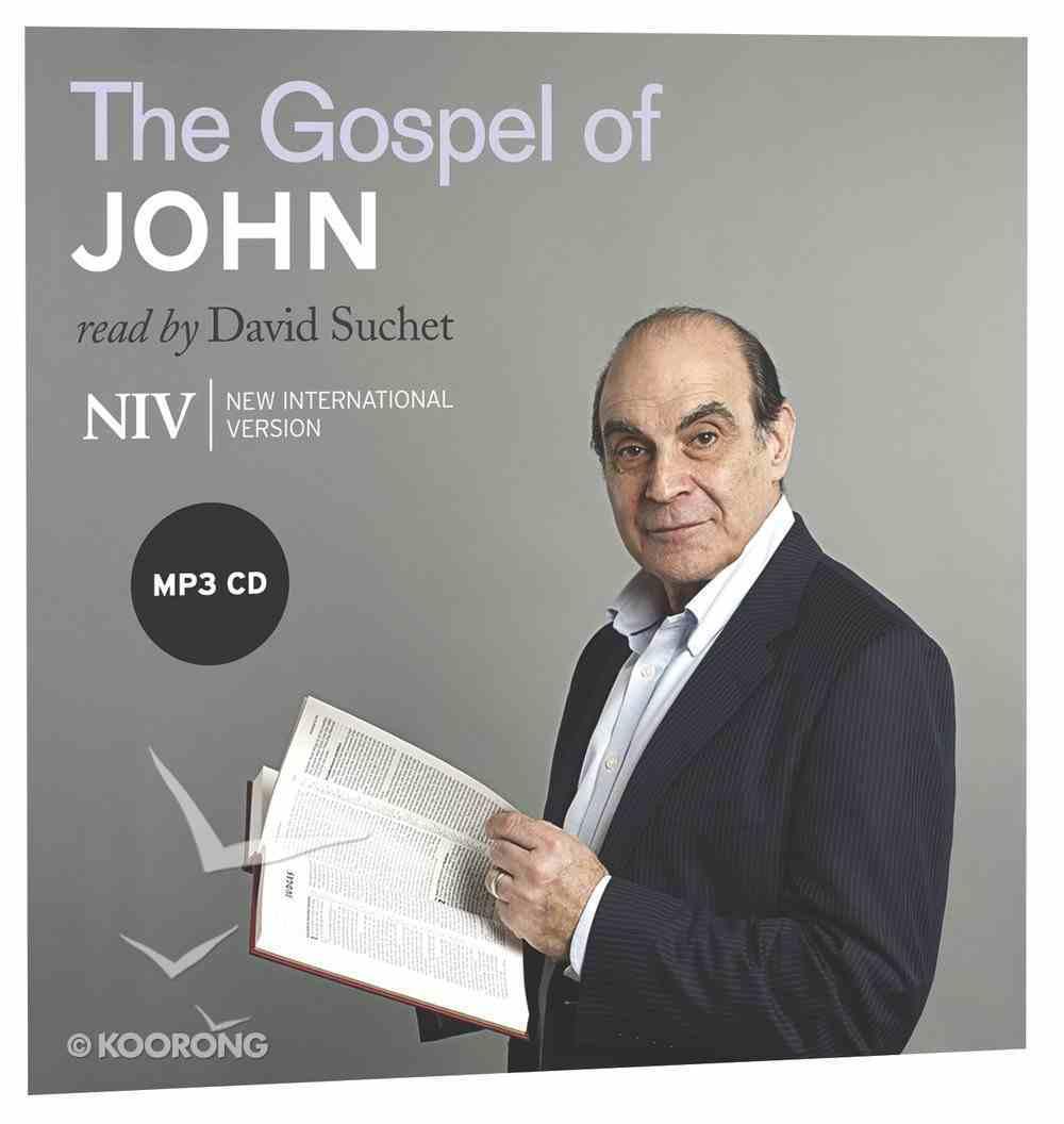 NIV Gospel of John MP3 Audio (Read By David Suchet) CD