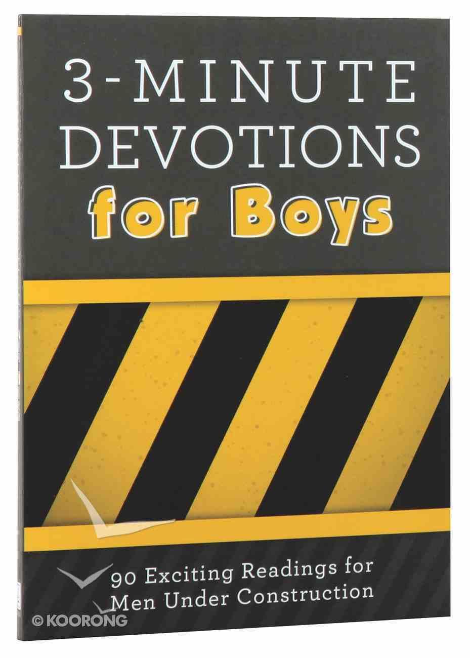 3-Minute Devotions For Boys Paperback