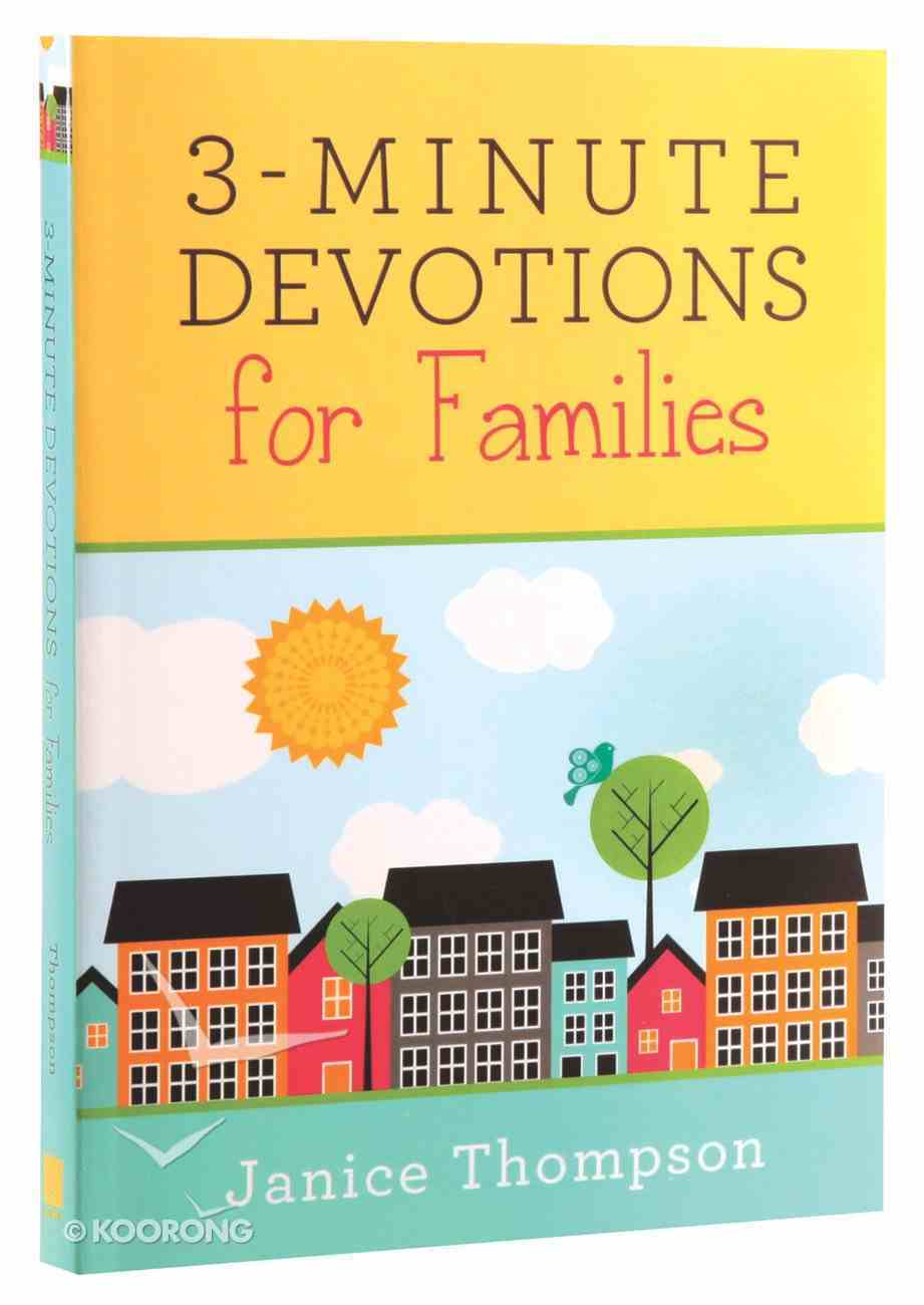 3-Minute Devotions For Families Paperback