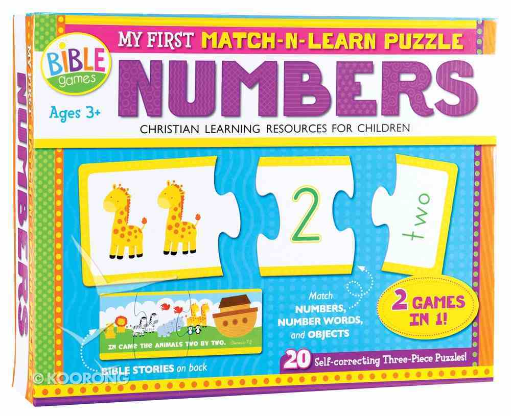 My First Match-N-Learn Puzzle: Numbers 1-20 (2 Games In 1) Game