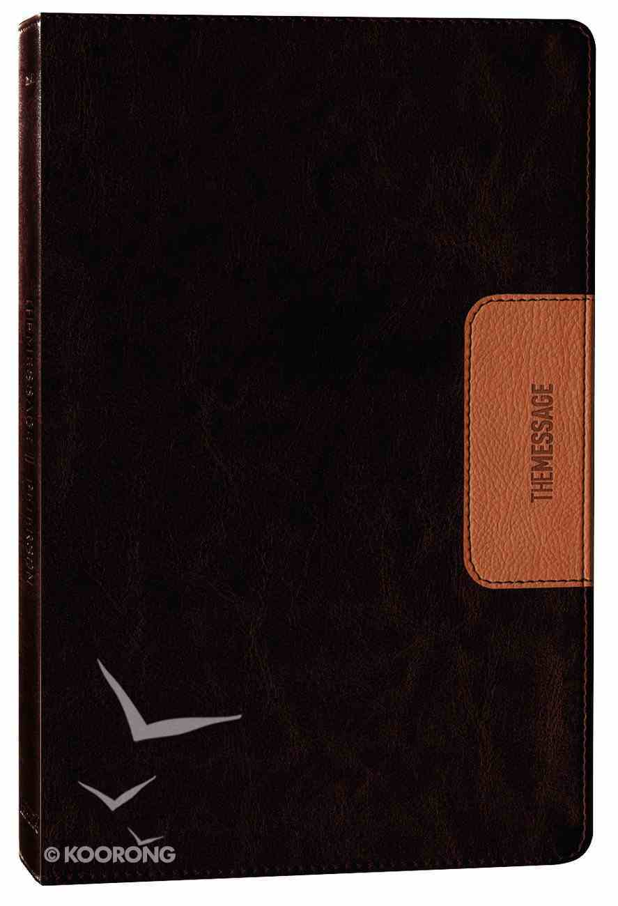 Message Slimline Bible Brown/Saddle Tan (Black Letter Edition) Imitation Leather