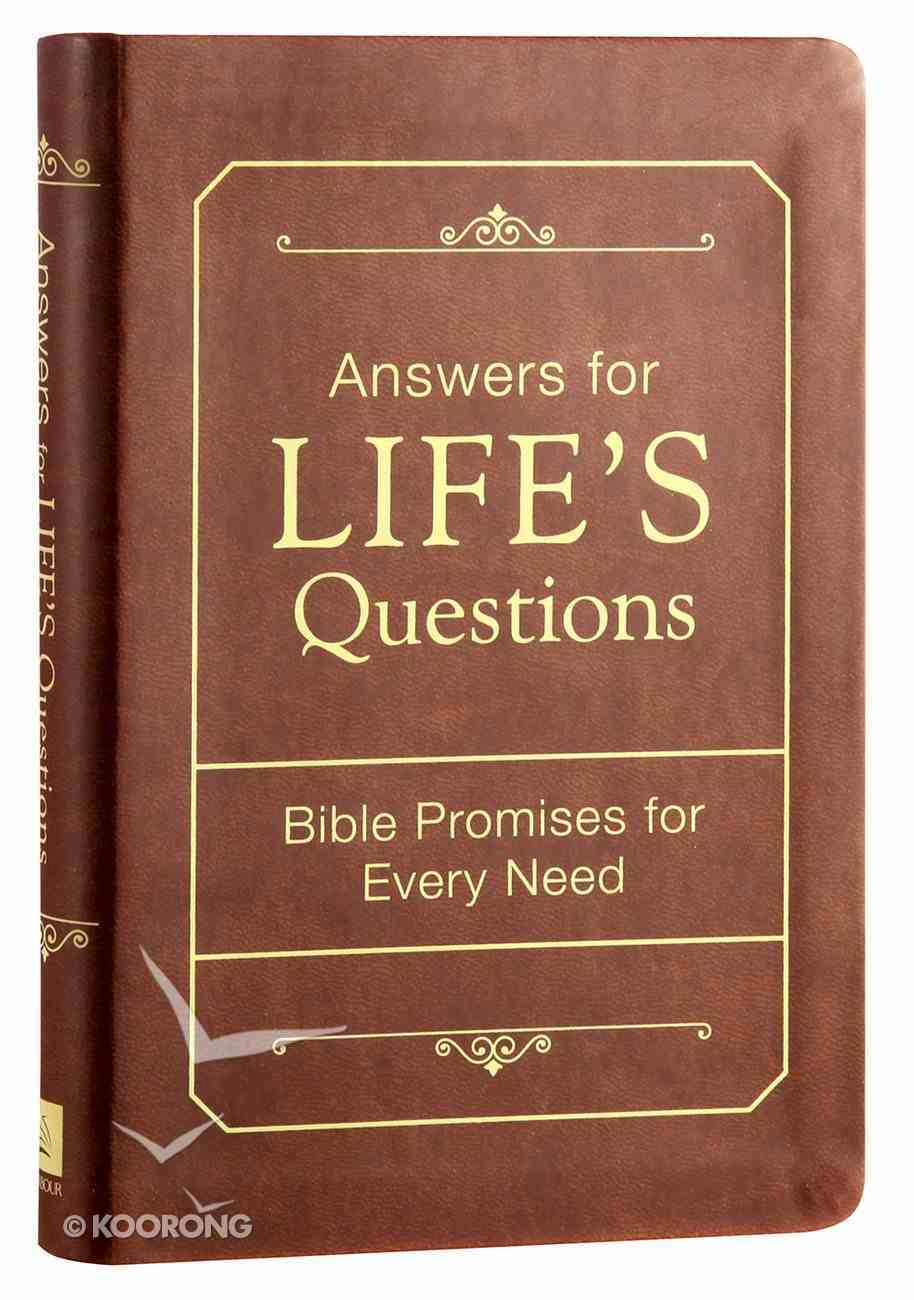 Answers For Life's Questions Imitation Leather