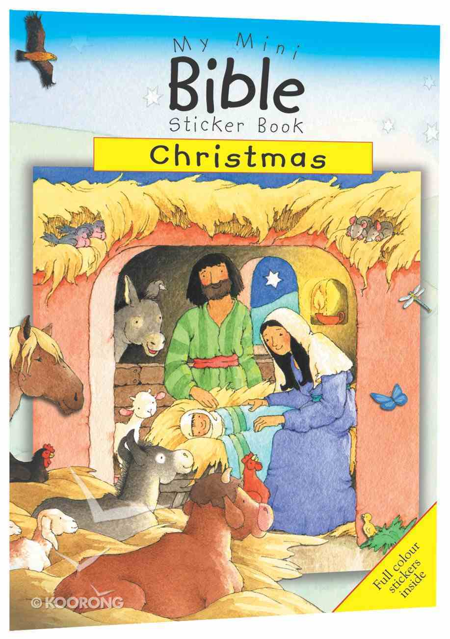 My Mini Bible Sticker Book: Christmas Paperback