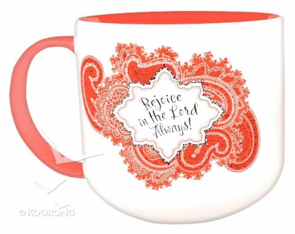 Jumbo Ceramic Mug: Bandana Rejoice (Red/white) Homeware