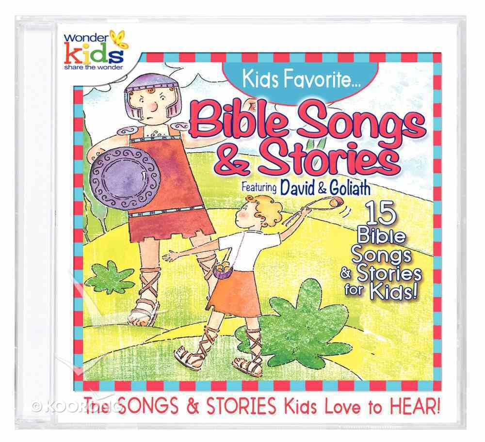 Kids' Favourite Bible Songs & Stories Featuring David & Goliath (Kids Favorite Series) CD
