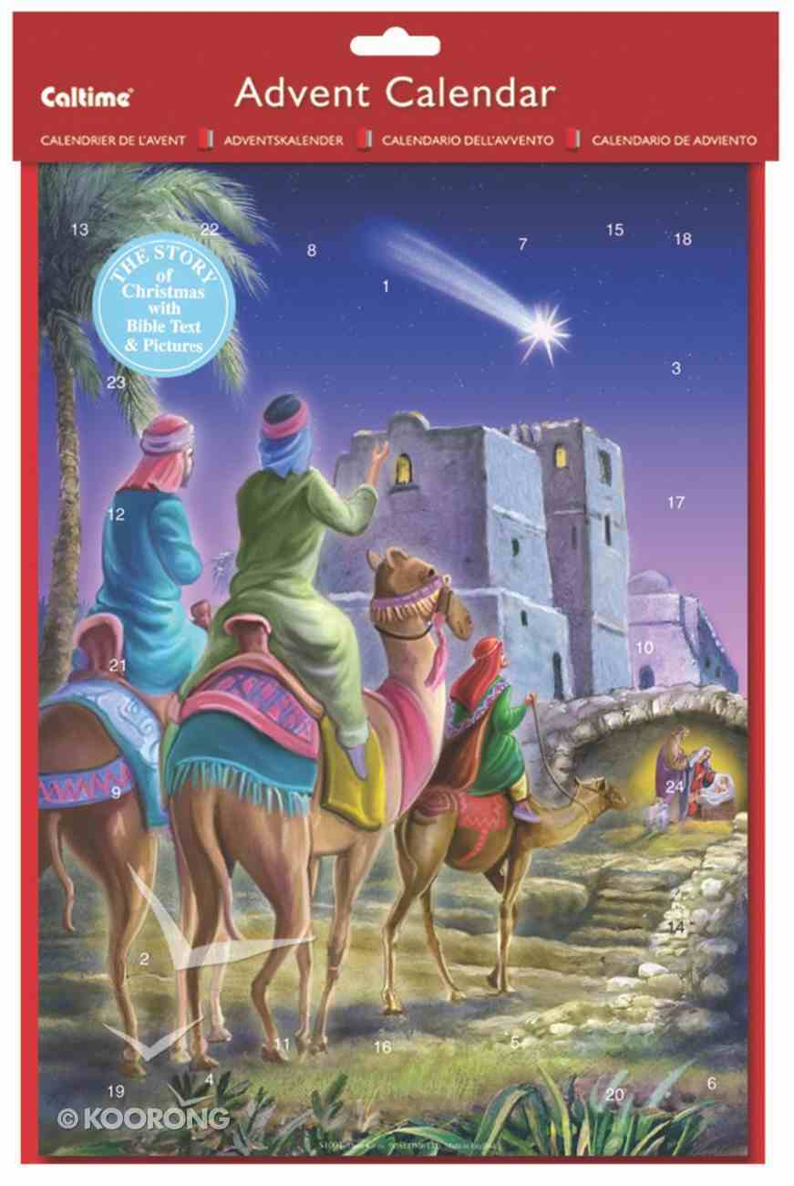 Advent Calendar: Three Kings With Bible Text & Pictures Calendar