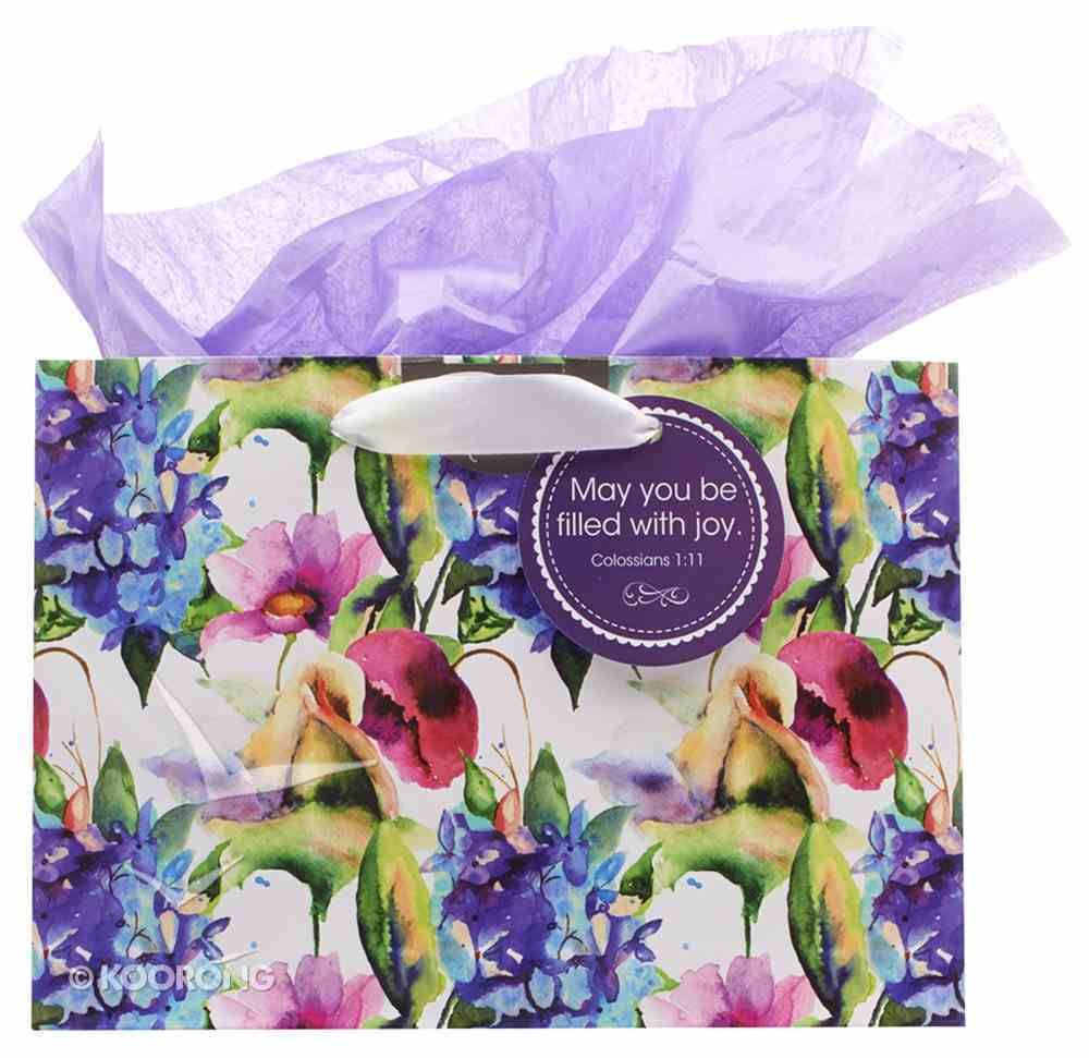 Gift Bag Large: Seeds of Love, May You Be Filled With You (Incl Tissue Paper & Gift Tag) (Purple/flowers) Stationery