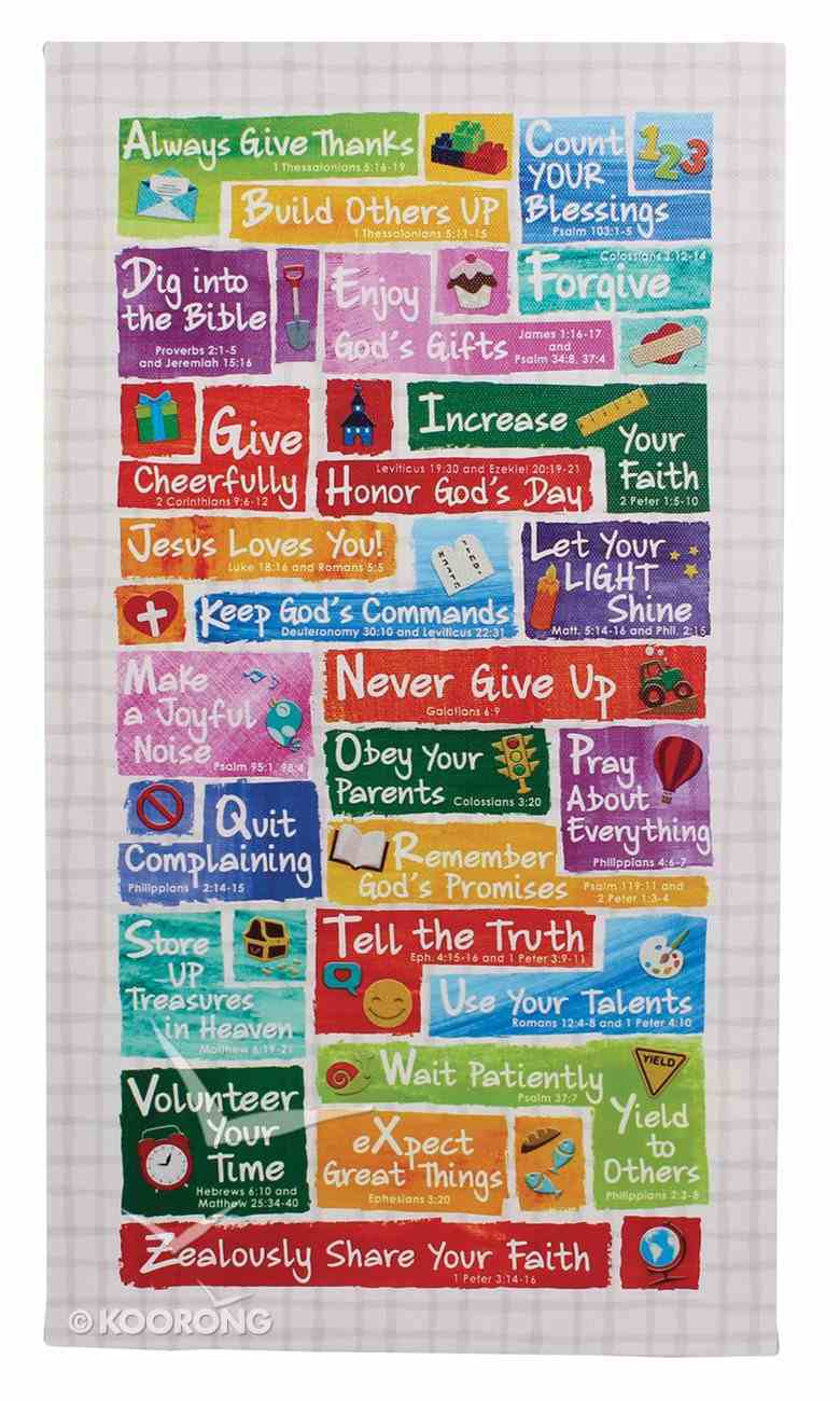 Wall Plaque: Colorful Abc's of Faith For Kids Plaque