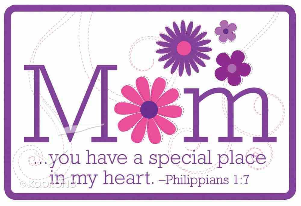 Magnet: Mum, Flowers, Purple, Philippians 1:7 Novelty