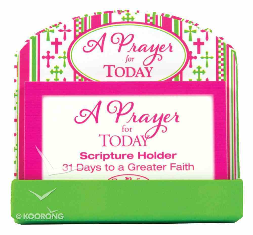 Scripture Card Holder: 31 Scripture Cards, a Prayer For Today General Gift