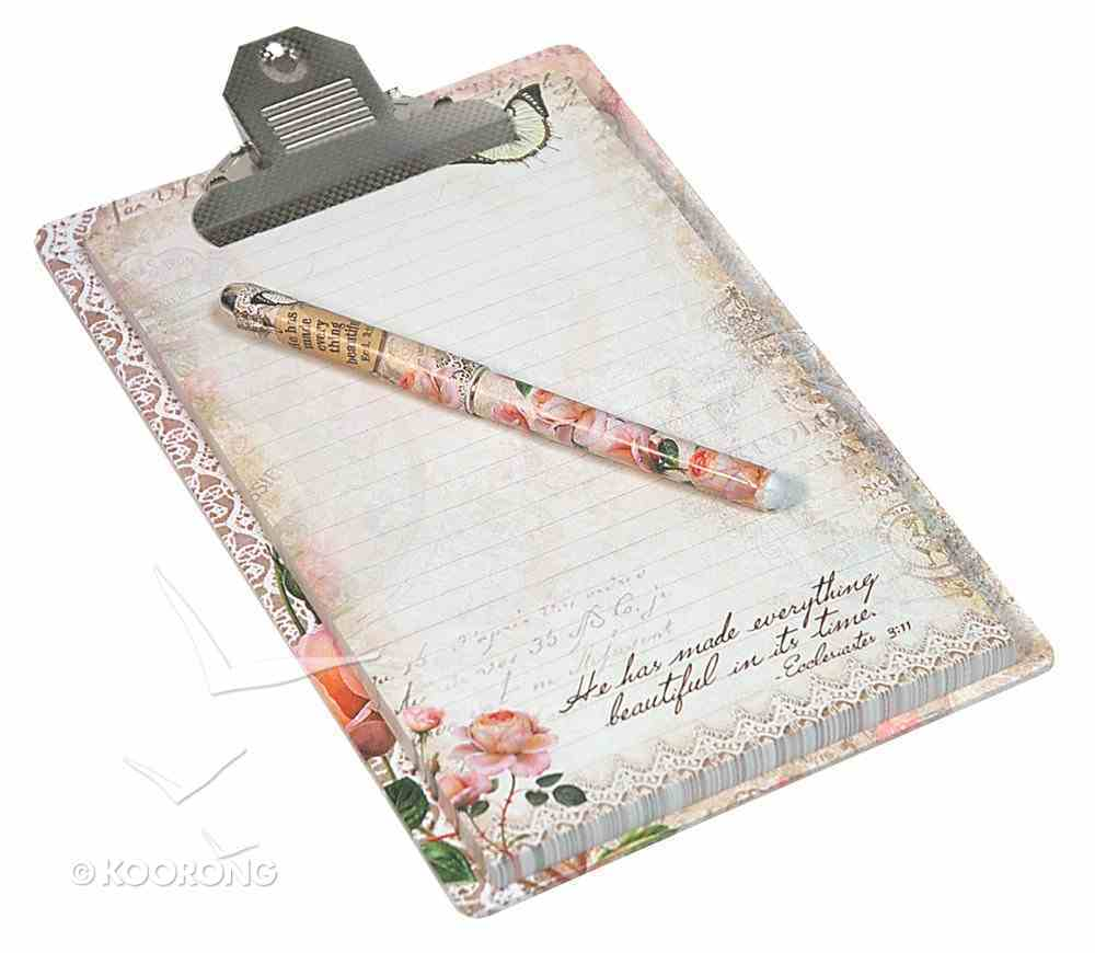 Clipboard Giftset (Vintage Rose Collection) Pack