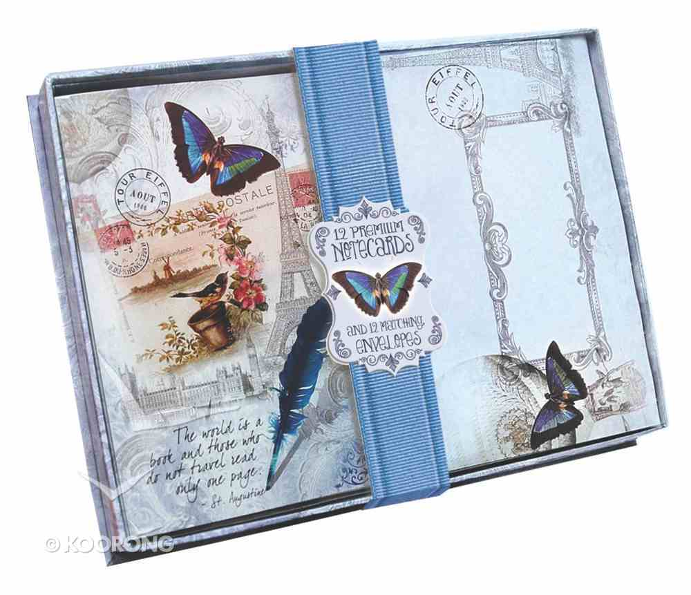 A5 Blank Notecards (Vintage Travel Gift Collection Series) Box