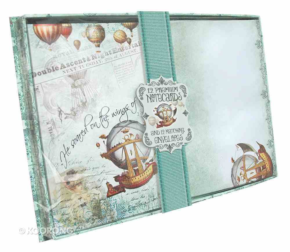 A5 Blank Notecards (Vintage Balloon Collection Series) Box
