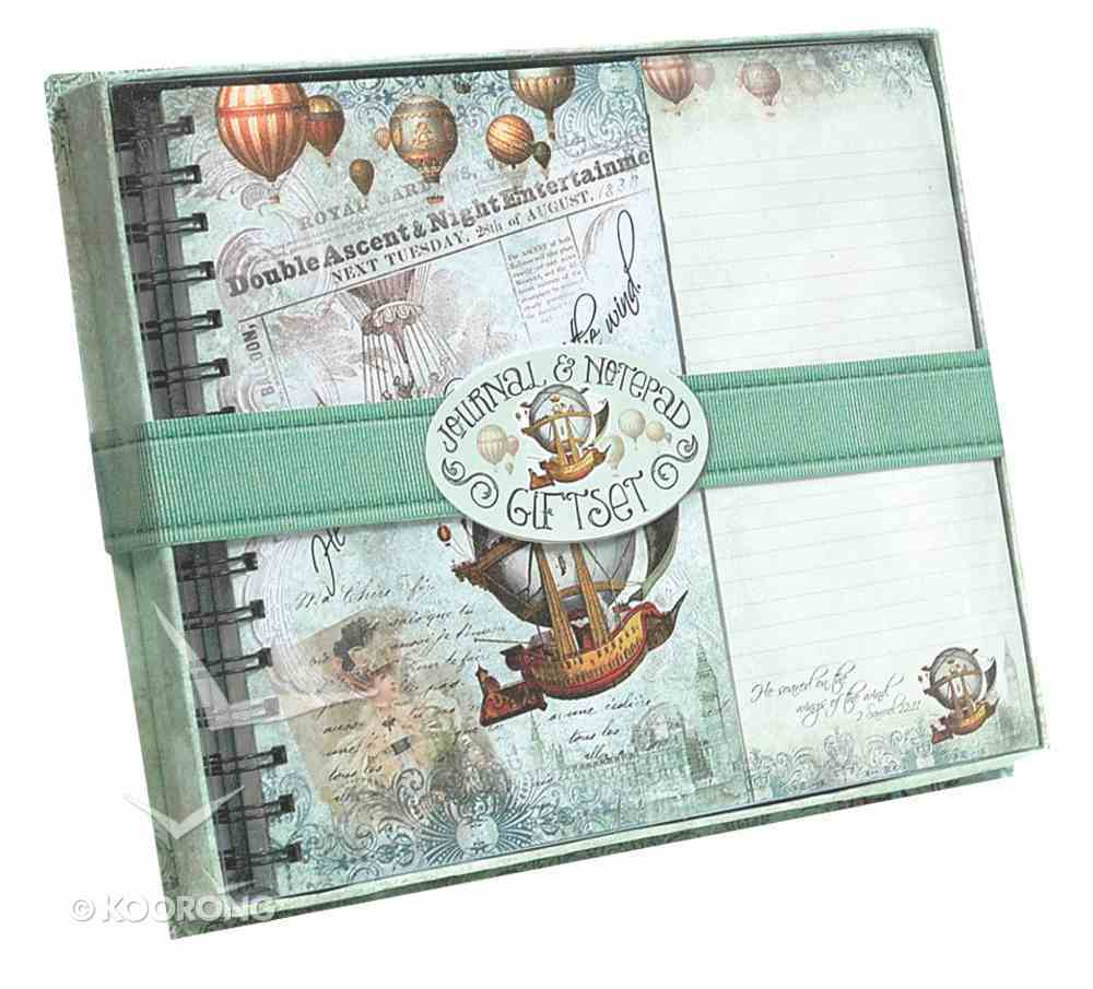 Journal & Listpad Giftset (Vintage Balloon Collection Series) Pack