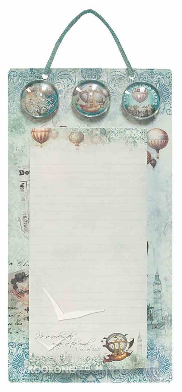 Metal Sign List Pad & 3 Magnets (Vintage Balloon Collection) Stationery