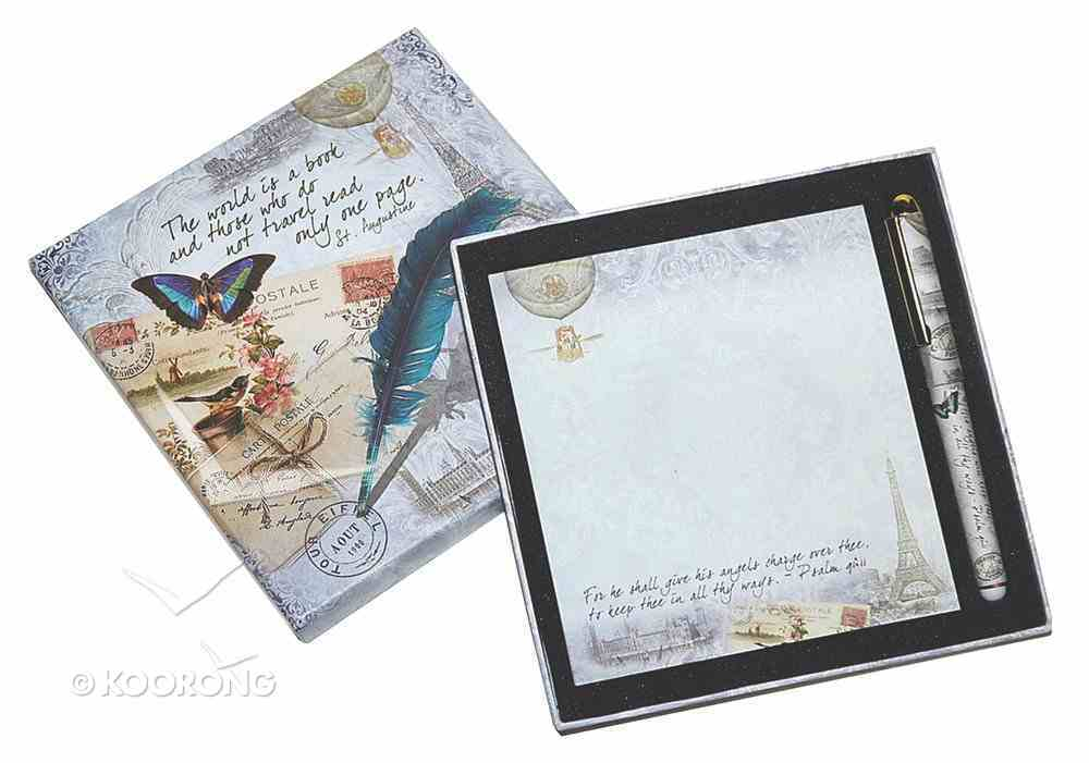Memo Pad & Pen Giftset (Vintage Travel Gift Collection) Box
