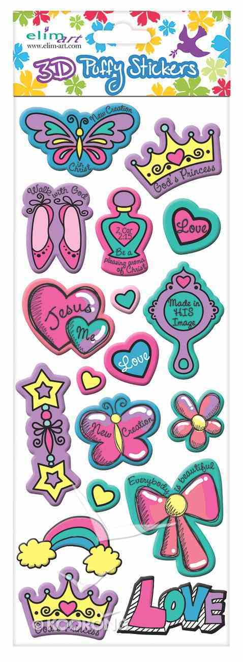 Puffy Stickers: Princess (1 Sheet Per Pack) Novelty